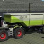 CLAAS Xerion Saddle Traktör ve Kaweco Auflieger Römork