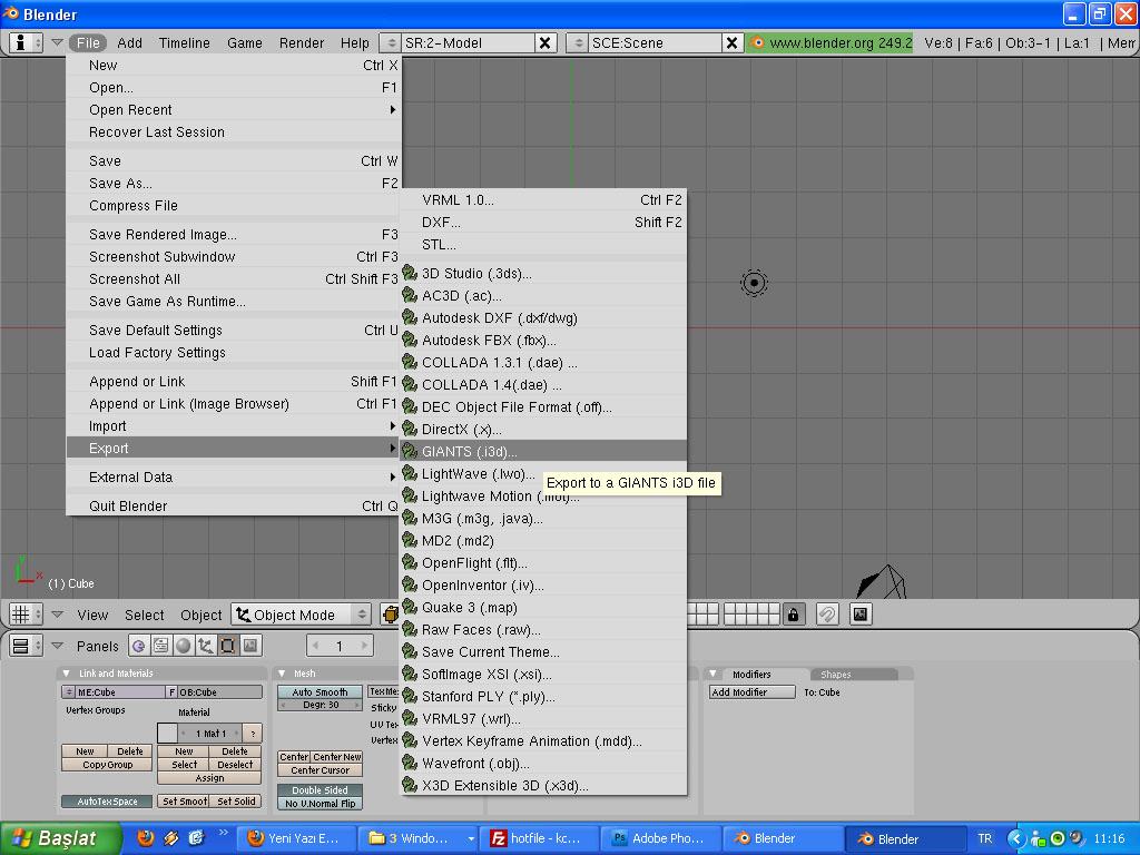 Photo of Blender 2.49 SkecupTan Giants Editöre Dönüştürme Sorunsuz