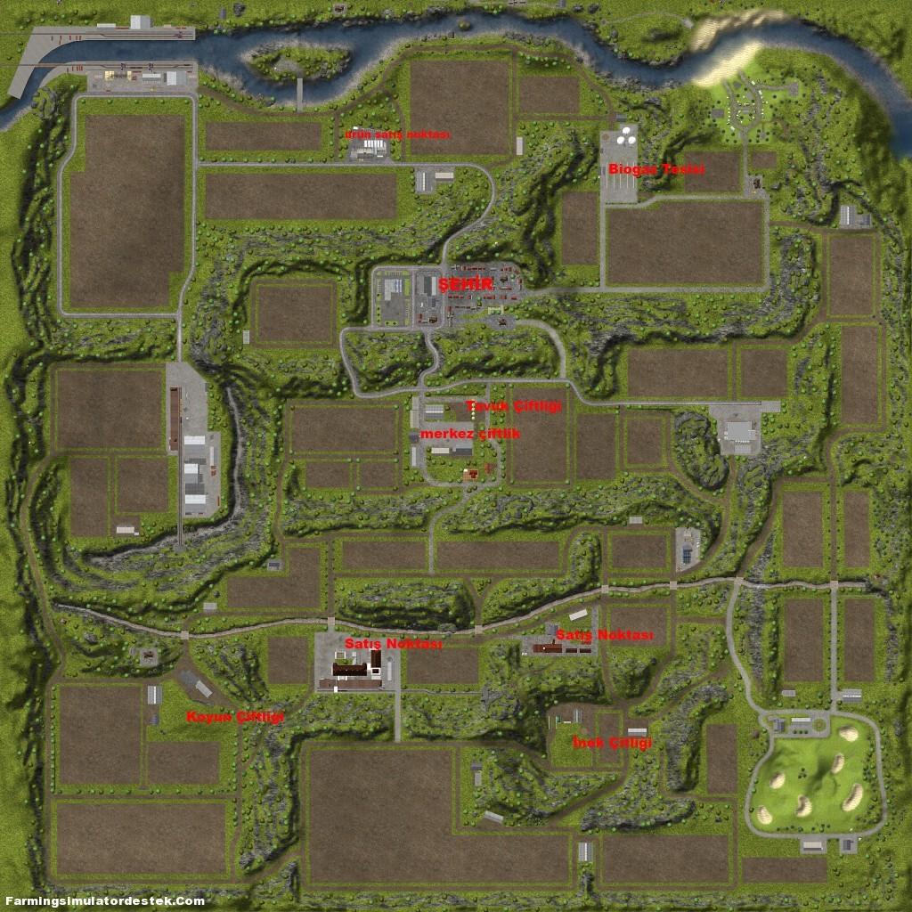 Photo of Farming Simulator 2013 Haritasında ki Belirli Noktalar