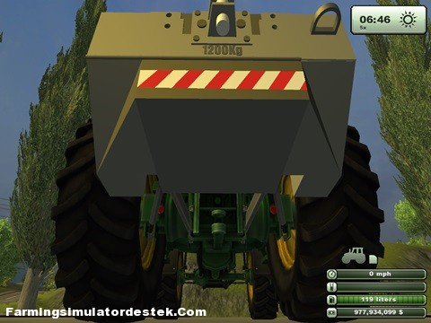 Photo of Fendt 1200 KG Ağırlık