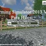 Farming Simulator 2013 V2 Para Hilesi