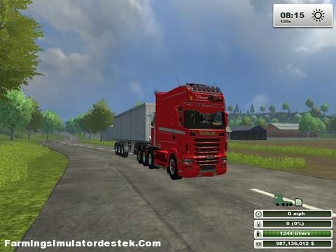 Photo of Scania Longline Emannuel Kırmızı TIR