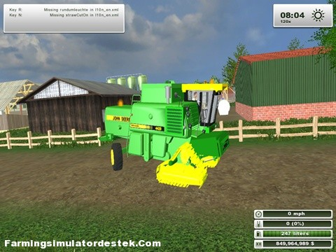 Photo of John Deere 4420 Biçer Döver