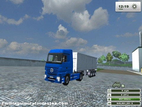 Photo of Mercedes Benz Actros Mavi Kamyon