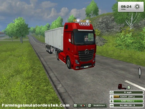 Photo of Mercedes Actros Mp4 Kırmızı Kamyon