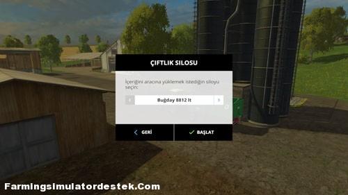 Farming Simulator 2015 Silodan Geri Yükleme Yapma