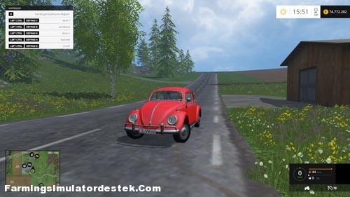 Photo of FS 2015 – Volkswagen Beetle 1966 Model Araba Yaması