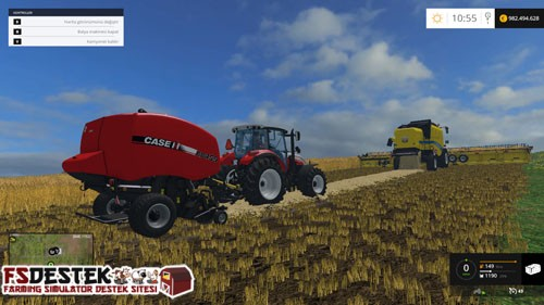 Photo of FS 2015 – Case IH Rollbet 455 Balya Makinası