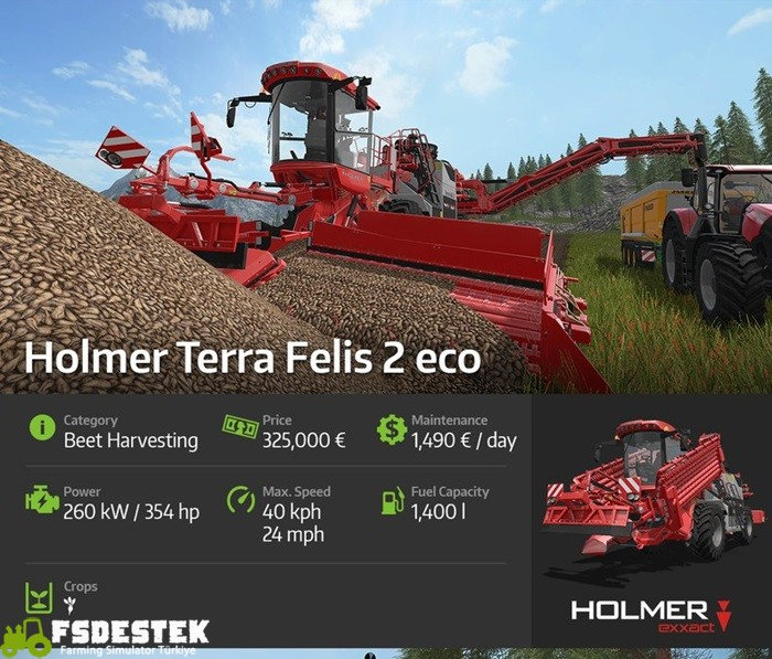 Photo of Farming 17 Holmer Terra Felis Pancar Hasat Makinası