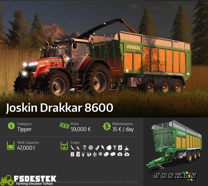 Photo of FS17 – Joskin Drakkar 8600 Römork Tanıtımı