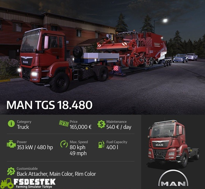 Photo of Fs17 –  Man TGS 18.480 Tanıtımı