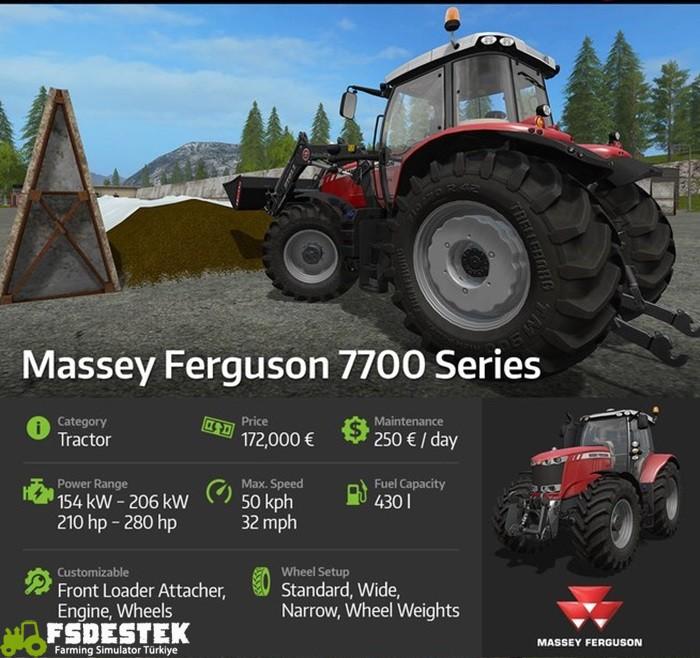 Photo of FS17 Massey Ferguson 7700 Traktör Detayları