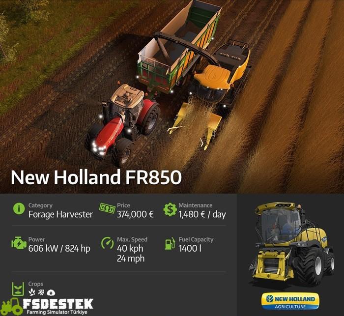 Photo of FS17 – New Holland FR850 Biçerdöver Sistemi