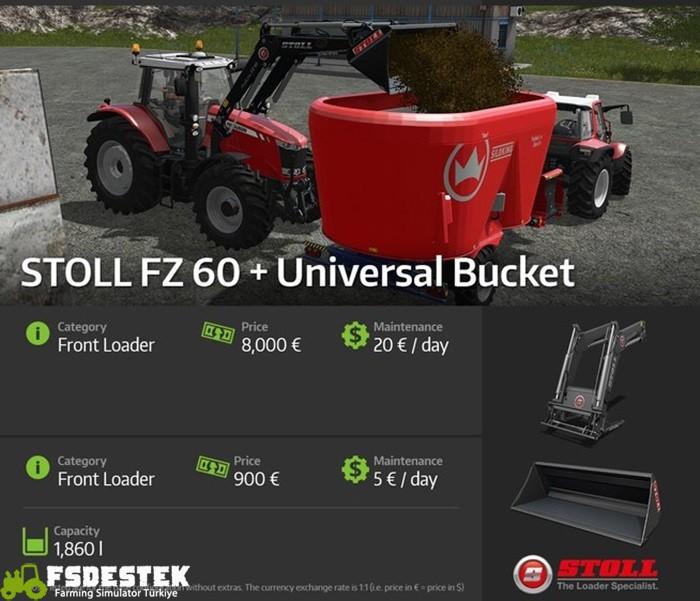 Photo of FS17 – Stoll FZ60 + Universal Bucket