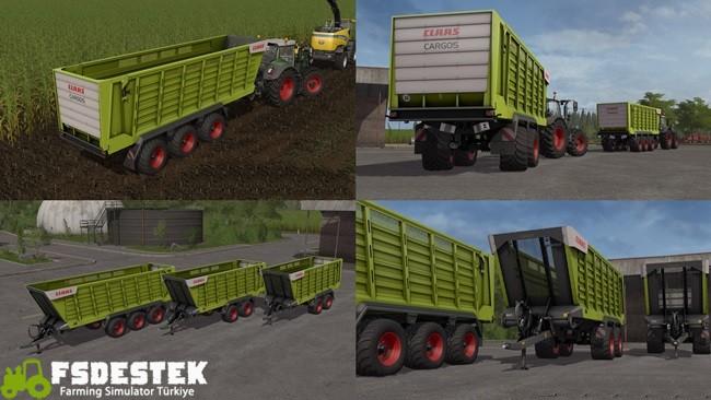 Photo of FS17 – Claas Cargos 700 Römork Paketi V1