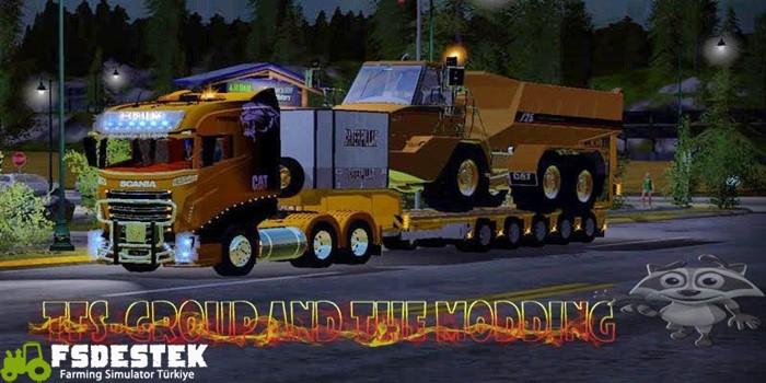 Photo of FS17 – Caterpillar Araç Taşıma Kiti + Scania Çekici
