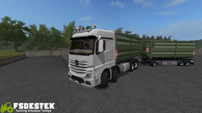 Photo of FS17 – Mercedes-Actros MP4 IT Runner 8×8 Kamyon V2