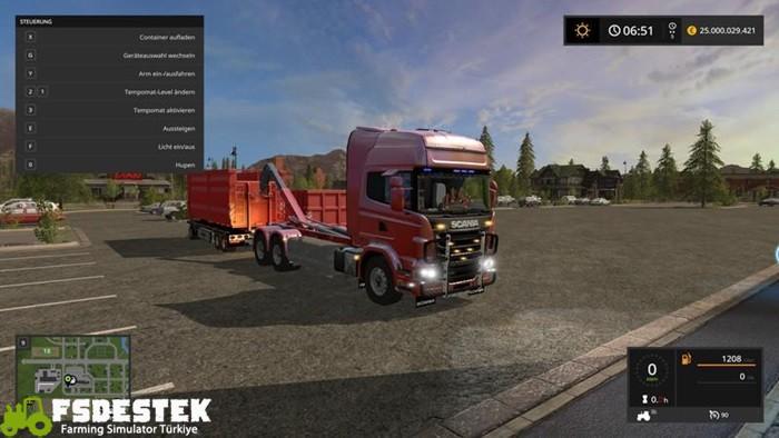 Photo of FS17 – Scania V8 HKL & Raylı Römork V1.0.2.0