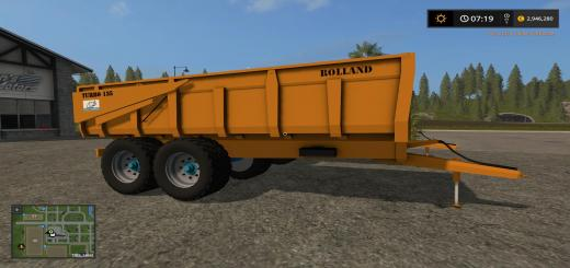 Photo of FS17 – Rolland Turbo135 Römork V2.0