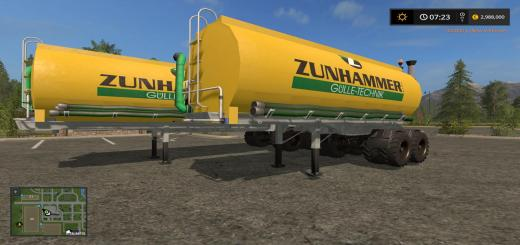 Photo of FS17 – Zunhammer Bitrems Tanker Modu V1.0
