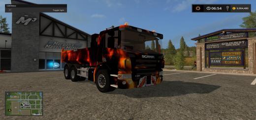 Photo of FS17 – Scania P420 Benne Remorque Fire V1.0