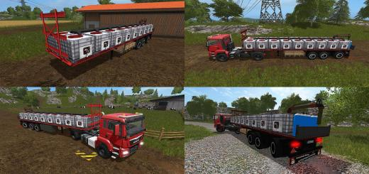 Photo of FS17 – Flatbed Römork V1.0