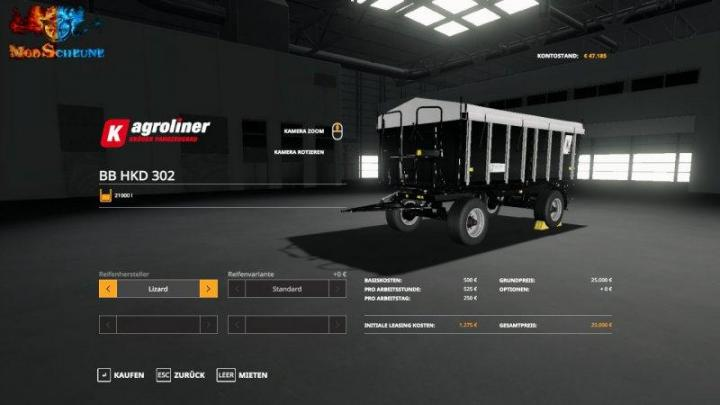 Photo of FS19 – Kroger Agroliner Bb Hkd 302 V1