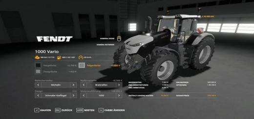 Photo of FS19 – Fendt 1000 Vario Traktör V1.0.0.2