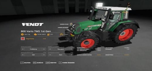 Photo of FS19 – Fendt 800 Vario Tms V1.0.0.8