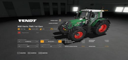 Photo of FS19 – Fendt 800 Vario Tms V1.0.0.9