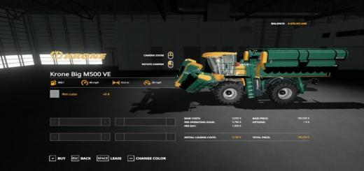 Photo of FS19 – Kronebig M500 Ve V1