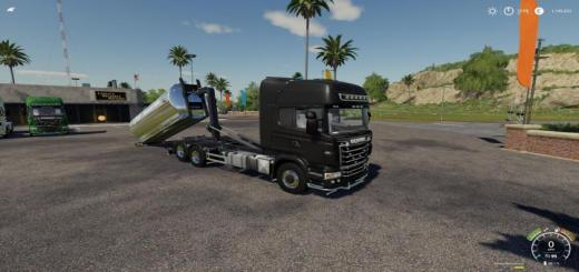 Photo of FS19 – Scania R730 Hooklift V1