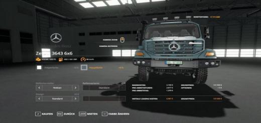 Photo of FS19 – Mercedes Zetros 3643 6X6 V1.0