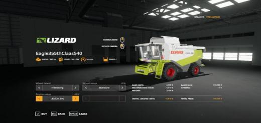 Photo of FS19 – Claas 540 Paketi V1.0