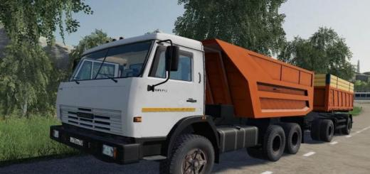 Photo of FS19 – Kamaz 55111 + Römork V1.2