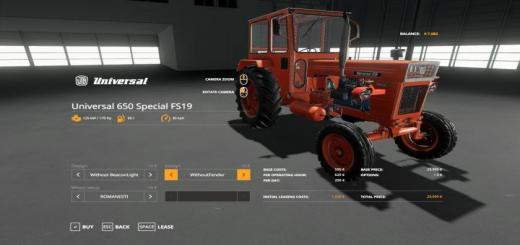 Photo of FS19 – Universal 650 Özel Traktör Modu 1.0