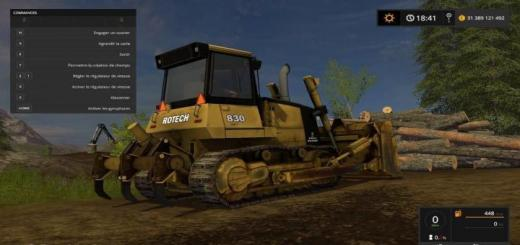 Photo of FS17 – Rotech 830 Bulldozer V1.0