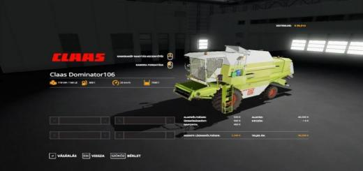 Photo of FS19 – Claas Dominator 106 Biçerdöver V1.0.0.3