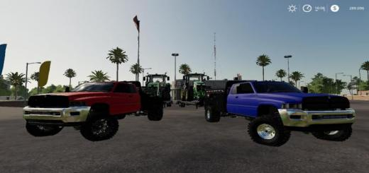 Photo of FS19 – Dodge Ram 2500 Flatbed V1.1