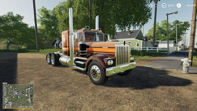 Photo of FS19 – Kenworth W900A Flat Top V1.0