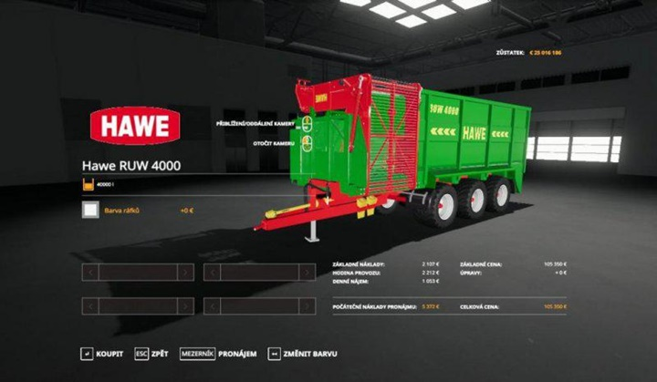 Photo of FS19 – Hawe RUW 4000 Römork Modu