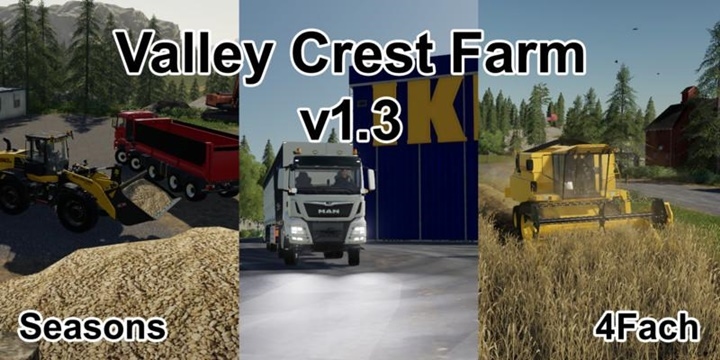 Photo of FS19 – Valley Crest 4x Çiftlik Haritası V1.3