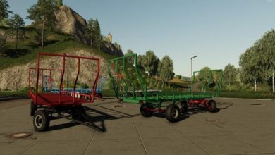Photo of FS19 – Lizard El Yapımı Balya Römorku V1.0.0.1