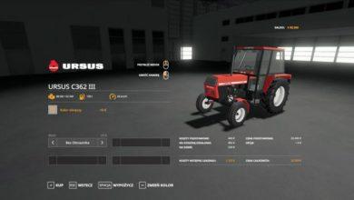 Photo of FS19 – Ursus C-362 III Traktör